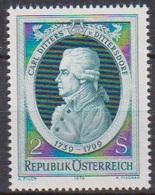 Österreich 1974 Nr.1470 ** Postfr. 175.Todestag Von Carl Ditters ( 9193) Günstige Versandkosten - 1945-.... 2. Republik