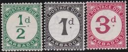Barbados     .     SG   .   D  1/3        .   **    .     Postfris    .   /   .   MNH - Barbades (...-1966)