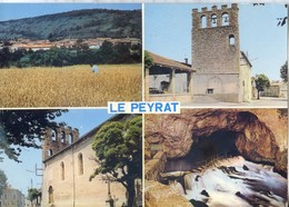 (09) PEYRAT (Ariège) - CPSM Multivues - Vue Générale Aérienne Le Clocher ... - Francia