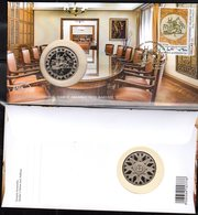 GREECE , 2019, 5 EURO PROOF COIN, 100 YEARS DEPOSIT AND LOAN FUND, FDC WITH STAMP & COIN - Greece
