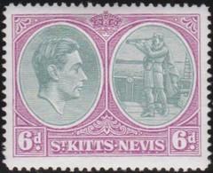 St Kitts And Nevis     .     SG   .    74d       .  *      .  Ongebruikt      .   /   .   Mint-hinged - St.Christopher-Nevis-Anguilla (...-1980)