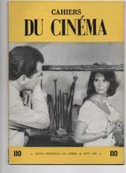 CAHIERS DU CINEMA N° 110 AOUT 1960 Voir Les 3 SCANS - Cinéma/Télévision