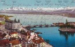 AK Zürich - Panorama See - 1913 (40549) - ZH Zürich