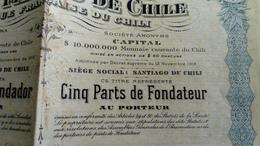 BANQUE FRANCAISE DU CHILI 1917 BONS AU PORTEUR - 1914-18