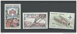 "FR YT 1189 1215 1228 "" Sites Et Architectures "" 1959 Neuf** - France"