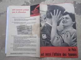 Tract Référendum 5ème République 1958 - De Gaulle - Guerre D'Indochine - Ligue D'Action Féminine - Suffragette - Documents Historiques