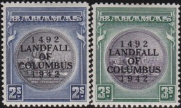 Bahamas    .     SG   .    172/173   Slate       .  *      .  Ongebruikt      .   /   .   Mint-hinged - Bahamas (...-1973)