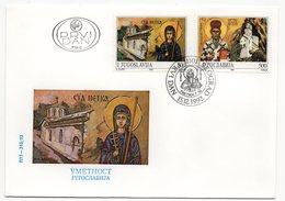 YUGOSLAVIA, FDC, 15.12.1992, COMMEMORATIVE ISSUE: ART - 1992-2003 Federal Republic Of Yugoslavia