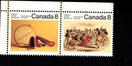 753913826  1975  SCOTT 575A POSTFRIS MINT NEVER HINGED EINWANDFREI (XX)  ARTIFACTS AND DANCE OF THE INDIANS 574 FIRST - 1952-.... Règne D'Elizabeth II