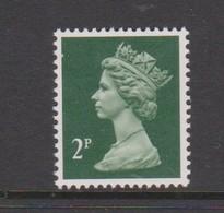Great Britain SG X928 1988  Decimal Machin 2p Myrtle Green, Mint Never Hinged - 1952-.... (Elizabeth II)