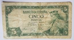 BILLET ESPAGNE - REGENCE DE FRANCO - P.146 - 22/07/54 - ROI ALPHONSE X - BATIMENT BIBLIOTHEQUE/MUSEE DE MADRID - [ 3] 1936-1975 : Régence De Franco
