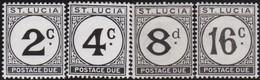 St Lucia       .     SG   .    D7/D10       .   *      .   Ongebruikt     .   /   .   Mint-hinged - Ste Lucie (...-1978)