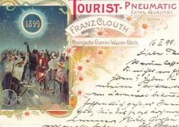 AK Werbung Für Clouth Aus Dem Jahre 1899 - Rheinische Gummi-Waaren-Fabrik - Repro (40553) - Werbepostkarten