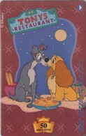 TARJETA TELEFONICA DE ISRAEL (DISNEY). Lady And The Tramp. BZ-247. (773) - Disney
