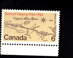 753915068  1970  SCOTT 540 POSTFRIS MINT NEVER HINGED EINWANDFREI (XX)  MAP OF COPPER MINE RIVER BASIN - 1952-.... Règne D'Elizabeth II