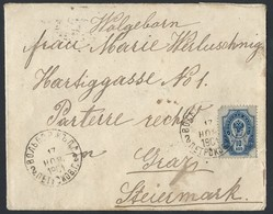819d.International Simple Closed Letter. Mail 1899 Wolbórz (commune Of Petrokov Province, Poland) Graz (Austria). Rarity - 1857-1916 Keizerrijk