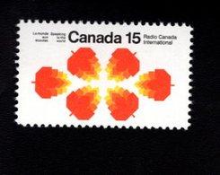753915779  1971  SCOTT 541 POSTFRIS MINT NEVER HINGED EINWANDFREI (XX) MAPLE LEAVES INAUGURATION RADIO CANADA INTERN - 1952-.... Règne D'Elizabeth II