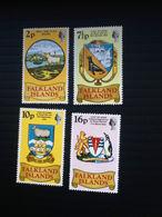 1975 Falkland Islands Set Of Four Stamps Heraldic Arms Mint NH Sc# 241-244 L4894 - Falklandeilanden