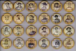 SERIE COMPLETA DE 24 PLACAS DE CAVA DE HOMBRES - MEN (CAPSULE) PINTURAS DE RAMON CASAS - PAINTING - Placas De Cava