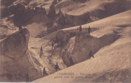 CPA 74 @ CHAMONIX MONT BLANC - Alpinisme - Traversée Du Glacier Sous Les Grands Mulets - Chamonix-Mont-Blanc