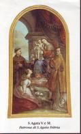 Patrona Di S. Agata Feltria, S.Agata, Santino Con Preghiera - Religion &  Esoterik