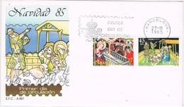 32372. Carta F.D.C. Barcelona 1985. NAVIDAD 85 - FDC