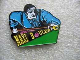 Pin's Jeu De Billard: MAXI Boules - Billiards