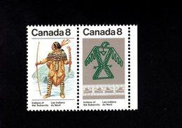 753923264 1975  SCOTT 577A POSTFRIS  MINT NEVER HINGED EINWANDFREI  (XX) SUBARCTIC INDIANS 577 FIRST STAMP - 1952-.... Règne D'Elizabeth II