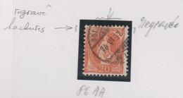 SUISSE   'VARIETES':   Le ZNr 86Aa, Regravé, Obl. - Variétés