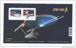 Canada 2016 Star Trek 50th Anniversary P-Stamps Souvenir Sheet Block MNH A04s - Blocks & Sheetlets