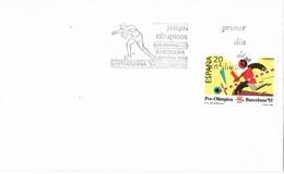 32375. Carta BARCELONA 1988. Juegos Olimpicos Barcelona 92, Pre Olimpica. Atletismo - FDC