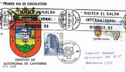 32377. Carta BARCELONA 1983. Rodillo Salon Internacional Hispack 83 Y Fechador Salon - 1931-Hoy: 2ª República - ... Juan Carlos I