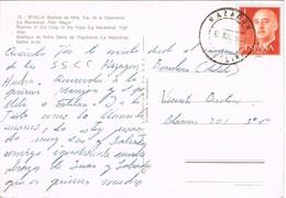 32378. Postal MAZAGON (Huelva) 1953. Vista Sevilla , Basilica Nuestra Sra Esperanza - 1931-Hoy: 2ª República - ... Juan Carlos I