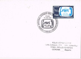 32379. Tarjeta PARIS 1984. Fechador CNET, Centre National D'Etudes TELECOMUNICATIONS - Francia