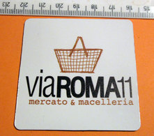 CALAMITA DA FRIGO MAGNETE VIA ROMA 11 MERCATO E MACELLERIA - Umoristiche