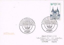 32380. Tarjeta NANCY 1986. Fechador Federation Societes Philateliques - Francia