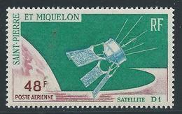 Saint PIERRE Et MIQUELON - 1966 - Y.T. PA N°35 - 48 F. Vert, Carmin Et Bleu - Satellite D1 - Neuf** MNH - Luxe - Poste Aérienne