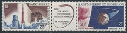 Saint PIERRE Et MIQUELON - 1966 - Y.T. PA N°34A - Triptyque - Lancement Premier Satellite Français - Neuf** MNH - Luxe - Poste Aérienne