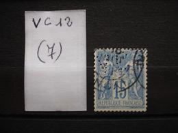 FRANCE  Perfin  Perforé VC 12  Indice 7 - France