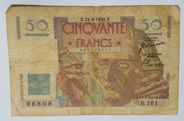 BILLET FRANCE - P.127c - 50 FRANCS - 24/08/1950 - LEVERRIER - NEPTUNE - 1871-1952 Circulated During XXth