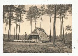 Cp , 40 ,  Les LANDES En GASCOGNE ,folklore ,  échassier ,une BORDE , écrite 1940 , Ed. Vignes, N° 2 - Ohne Zuordnung