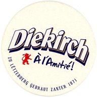 Luxembourg. Letzeburg. Diekirch. A L'amitié Zu Lëtzebuerg Gebraut Zanter 1871. - Sous-bocks