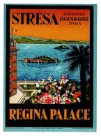 Etiquette D'hôtel Italie HOTEL REGINA PALACE - STRESA - Borromeo Lago Maggiore Italia - LUGGAGE LABEL - Etiquettes D'hotels