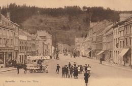 Aywaille   Place Jos.Thiry Marchand De Glace Bien Animée Circulé En 1930 - Aywaille