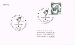 32382. Carta FIRENZE (Italia) 1992. Vino, Wein, Vini. Mostra Enofilatelica - 6. 1946-.. República