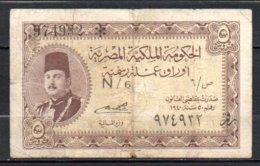 329-Egypte Billet De 5 Piastres 1940 N6 - Egypt