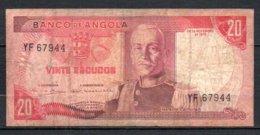 329-Angola Billet De 20 Escudos 1972 YF679 - Angola