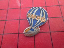 910b Pins Pin's  / Rare Et De Belle Qualité / THEME MONTGOLFIERES : BALLON LIBRE SMPG - Montgolfières