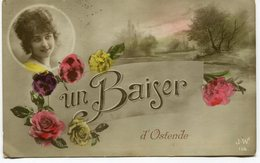 CPA - Carte Postale - Belgique - Un Baiser D'Ostende (M8175) - Oostende