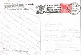 32383. Postal FIRENZE (Italia) 1958. Slogan  Forze Armata. Fuerzas Armadas, Combattente - 6. 1946-.. República